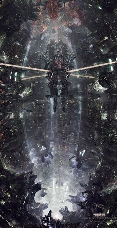 Tagged with art, awesome, creativity, cyberpunk, science fiction; Cyberpunk City, Ville Cyberpunk, Cyberpunk Kunst, Futuristic City, Futuristic Architecture, Science Fiction Kunst, Jupiter Ascending, Rpg Map, Sci Fi City