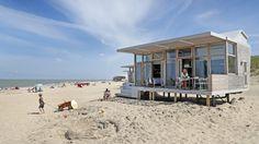 6 pers Strandhuisje exterieur