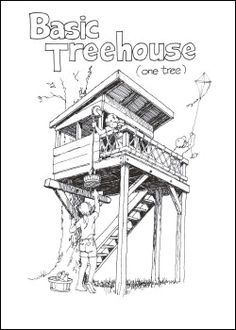 Amazing Tree House Ideas You Need To See The Treehouse Guide _ Plans_ books and other sources Cubby Houses, Play Houses, Tenda Camping, Kids Playhouse Plans, Building A Treehouse, Treehouse Ideas, Tree House Plans, Cool Tree Houses, Tree House Designs