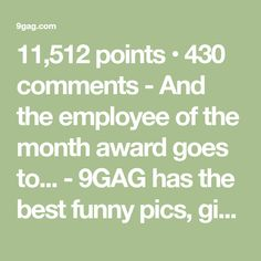 And the employee of the month award goes to. Reddit Funny, Freaking Hilarious, Sports Memes, Funny Clips, Best Funny Pictures, Dumb And Dumber, Fails, Awards, Movie Tv