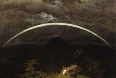 Caspar David Friedrich. Gebirgslandschaft mit Regenbogen (Mountain Landscape…