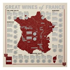 Taste Your Way Around France Ahh, France. No other country produces more fine wine, and none has quite the same romantic allure. Use this unique tasting map as a tool to experience the diversity of fl