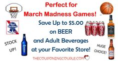 Save up to $5.00 each on BEER, LIQUOR and WINE at your favorite store or even bar! Stock up for watching the ball games!  Click the link below to get all of the details ► http://www.thecouponingcouple.com/hot-save-up-to-4-ea-on-beer-and-adult-beverages/ #Coupons #Couponing #CouponCommunity  Visit us at http://www.thecouponingcouple.com for more great posts!