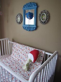 Love the mushroom pillow, love the fabric, love the baby bluebird!!