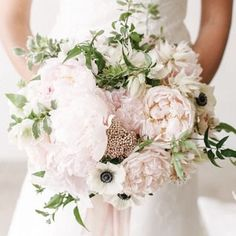 Have you ever seen a more beautiful bouquet? Pale pink flowers really are the most romantic choice for your wedding day www.wed2b.co.uk