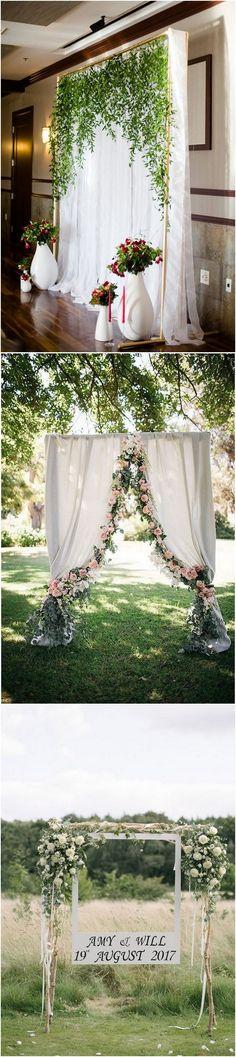 greenery and white wedding backdrop decoration ideas_2 #weddingdecor #weddingideas #weddingphotos #weddingbackdrops #weddinginspiration