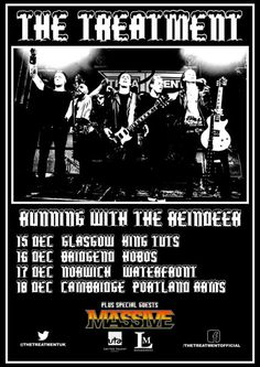 Massive announce UK tour dates with The Treatment in December