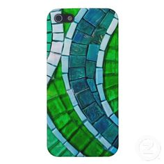 Green Mosaic Tiles iPhone 5 Covers