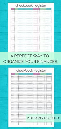 balance your checkbook using this colorful columned check register