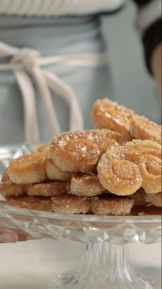 Recipe with video instructions: These easy, sugar-dipped French pastries are sure to satisfy any sweet tooth. Baking Recipes, Cookie Recipes, Dessert Recipes, Delicious Desserts, Yummy Food, Puff Pastry Recipes, Puff Pastry Desserts, Portuguese Recipes, Sweet Recipes