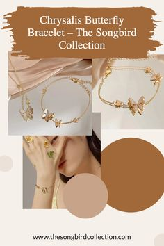 Our Chrysalis Butterfly Bracelet is a dainty chain bracelet for butterfly lovers! Gold Plated on 925 Silver Cool Presents, Butterfly Bracelet, Layered Jewelry, Bangles, Bracelets, Layering, 925 Silver, Women Jewelry, Plating