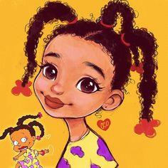 Day 💛💜 Susie Carmichael from Rugrats Black Love Art, Black Girl Art, Art Girl, African American Artwork, African Art, Doodles Bonitos, Black Girl Cartoon, Black Art Pictures, Black Artwork