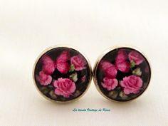 Pendientes botón de La Tienda Vintage de Kima por DaWanda.com
