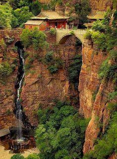 Cagyan shan falls, Shijiazhuang, Hebei, China