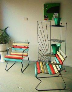 Retro garden chairs
