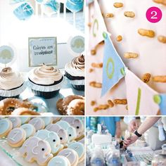 Blue and gray baby shower inspiration!