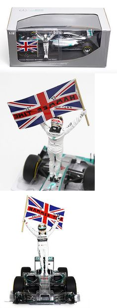Formula 1 Cars 180270: F1 1 18 2014 Lewis Hamilton Mercedes Gp Abu Dhabi Standing W Hammer Time Flag -> BUY IT NOW ONLY: $349 on eBay!