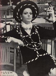 Chanel suit, Helmut Newton, Vogue 1967