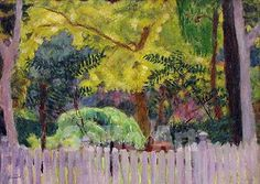 The Violet Fence 1923 - Pierre Bonnard reproduction oil painting