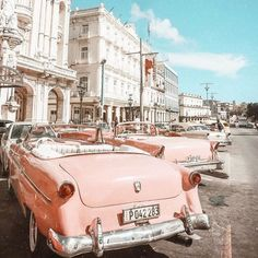 Photo by Photo by Erin Leigh Scheepers erinleighsch Retro cars freetoedit car cars pastel aesthetic vintage retro city pink blue background nbsp hellip
