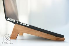 Laptop Stands MacBook Stand Computer Station by XPIECEWOODWORKS