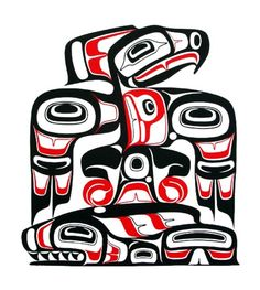 Eagle with Salmon — Freda Diesing    Thunderbird and Whale — Doug Zilke   So today, I discovered Native Canadian Art, also know as Haida ...