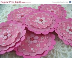 CIJ Paper Flower Posies for Scrapbooking Card by EllieMarieDesigns, $4.00