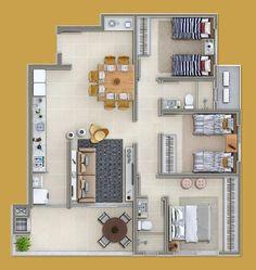 Apartamento com 3 Quartos à Venda, 96 m² por R$ 411.200 Dom Bosco, Itajaí, SC, Foto 1