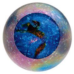 GLASS EYE STUDIO Celestial Series Planet Paperweight Blown Glass 492F SUPERNOVA