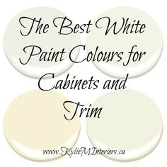 what are the best white paint colours for cabinets and trim using benjamin moore cloud white, feather down, flurry and more