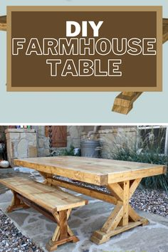 There's something about 4×4 lumber that makes furniture look amazing. Maybe it's the sturdiness, maybe it's the shape. Whatever it is, I love it! Diy Kitchen, Kitchen Ideas, Kitchen Decor, Dining Rooms, Dining Table, Diy Farmhouse Table, Outdoor Entertaining, Furniture Making, Home Projects