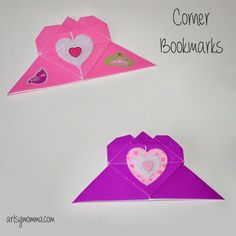 Here's a cute Origami Heart Corner Bookmark that are fun for both kids and grown-ups. Make as a Valentine's Day craft or just because.