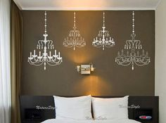 Chandelier wall decal wedding wall decal party wall by NatureStyle, $42.00