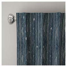 "Blackout Shibori Stripe Curtain Panel Navy (Blue) (50""x108"") - Skyline Furniture"