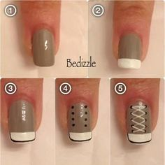 b for bel: How to: Converse Sneaker Nails art diy stap voor stap Converse Nails, Shoe Nails, Cheap Converse, Grey Converse, Converse Shoes, Nail Art Diy, Diy Nails, Sneaker Nails, Nail Art Vernis