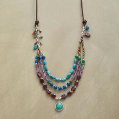 Amazonite Drop & Gemstone Necklace                                              | Robert Redford's Sundance Catalog