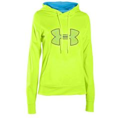 Under Armour Storm Armour Fleece Big Logo Hoodie - Women's - Light Green / Light Blue Under Armour Brand, Nike Under Armour, Under Armour Logo, Under Armour Jackets, Under Armour Hoodie, Athletic Outfits, Athletic Wear, Athletic Clothes, Under Armour Sweatshirts