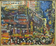 "PHILIP LAWRENCE SHERROD NA (STREET*PAINTER)-*PAINTING*-..(*NYC*/-..*PLEIN*AIR*NYC!)?(*FOUNDER*/-..-*STREET*PAINTERS)!? (*FOUNDER*/-..-*STREET*PAINTERS)!?    TITLE:..-54th*STREET/-..&*7th*AVE./-*NIGHT*/-..*NYC(!)""? MED:OIL/-CANVAS SIZE:22.5 X 26.3/4"" DATE:2008 artist's©copyright"