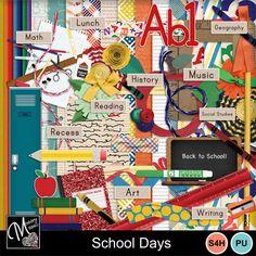 Designer - Memory Mosaic   MyMemories School Days, Back To School, Confirmation Page, Paint Shop, Photoshop Elements, Photo Book, Digital Scrapbooking, Design Elements