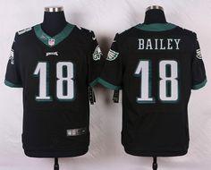 Men's NFL Philadelphia Eagles #18 Bailey Black Elite Jersey