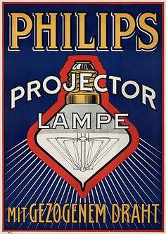 Philips Projector Lamps c.1910s http://www.vintagevenus.com.au/vintage/reprints/info/PR402.htm