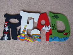 READ - Dr. Seuss Letters For Your Child's Room, Play Room, or Library on Etsy, $35.00