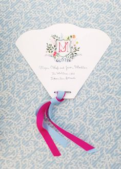 Ceremony Program Inspiration - Wedding designed by Easton Events - International Wedding Planners with offices in Charleston, SC and Charlottesville, VA photo by Aaron Delesie