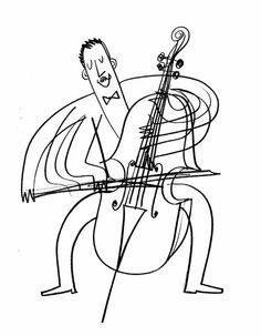 Cellist, by Dermot Flynn