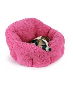 Look at this Fuchsia Deep-Dish Cuddler Pet Bed on #zulily today!