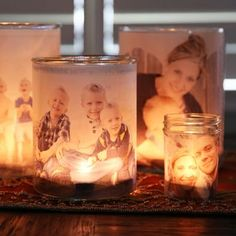 Super cute idea for luminaries or other table decor.