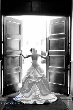Love the natural light in this church pose!  Toledo Bridal Wedding Photography  www.jhphotography.org