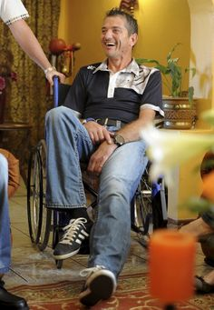 Joost van der Westhuizen, former scrumhalf for the Springboks, living with motor neuron disease (MND) since 2011 and given between two and five years to live.