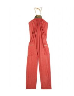 marc jacobs gold halterneck jumpsuit