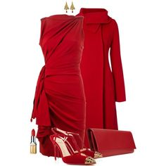 """""""Holiday Red"""" by fantasy-closet on Polyvore"""
